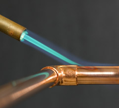 soldering copper pipe plumbing repair